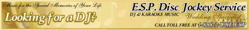 E.S.P.Disc Jockey and Karaoke Service