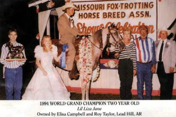 1994 MFTHBA World Grand Champion Lil' Liza Jane
