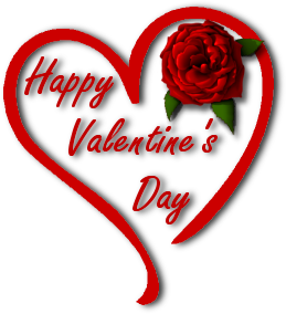 Happy Valentine Heart Rose